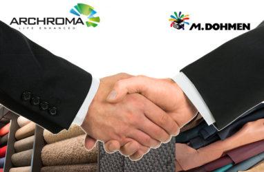 Archroma, şimdi M. Dohmen grubunun %75'inin kontrolüne sahip oldu.