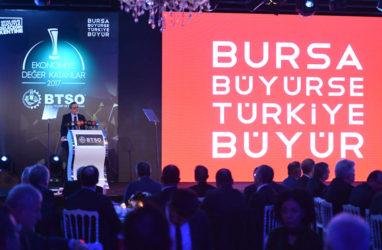 BTSO ekonomiye değer katanları ödüllendirdi