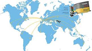 Özbekistan İplik harita loepfe zenit