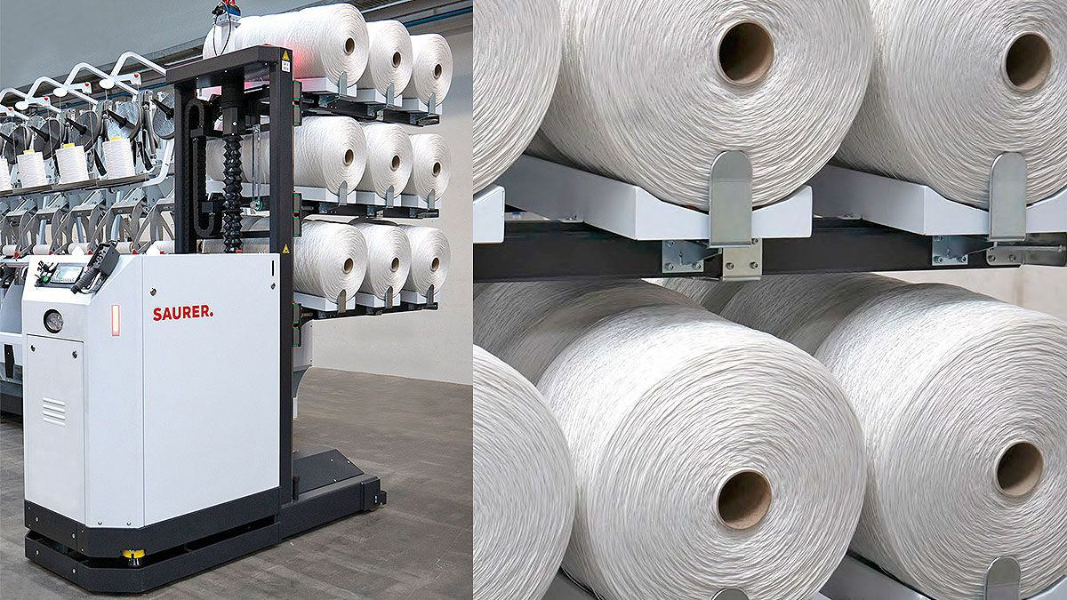 Automation: the Key Theme of Saurer for Carpet yarn Production