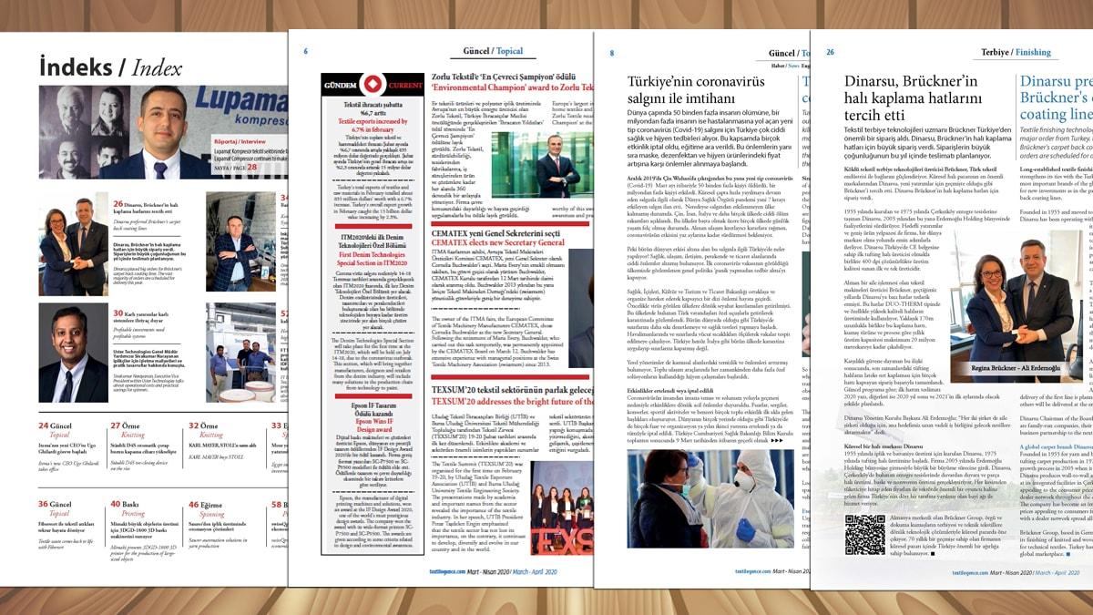 Textilegence Mart Nisan 2020 yayınlandı