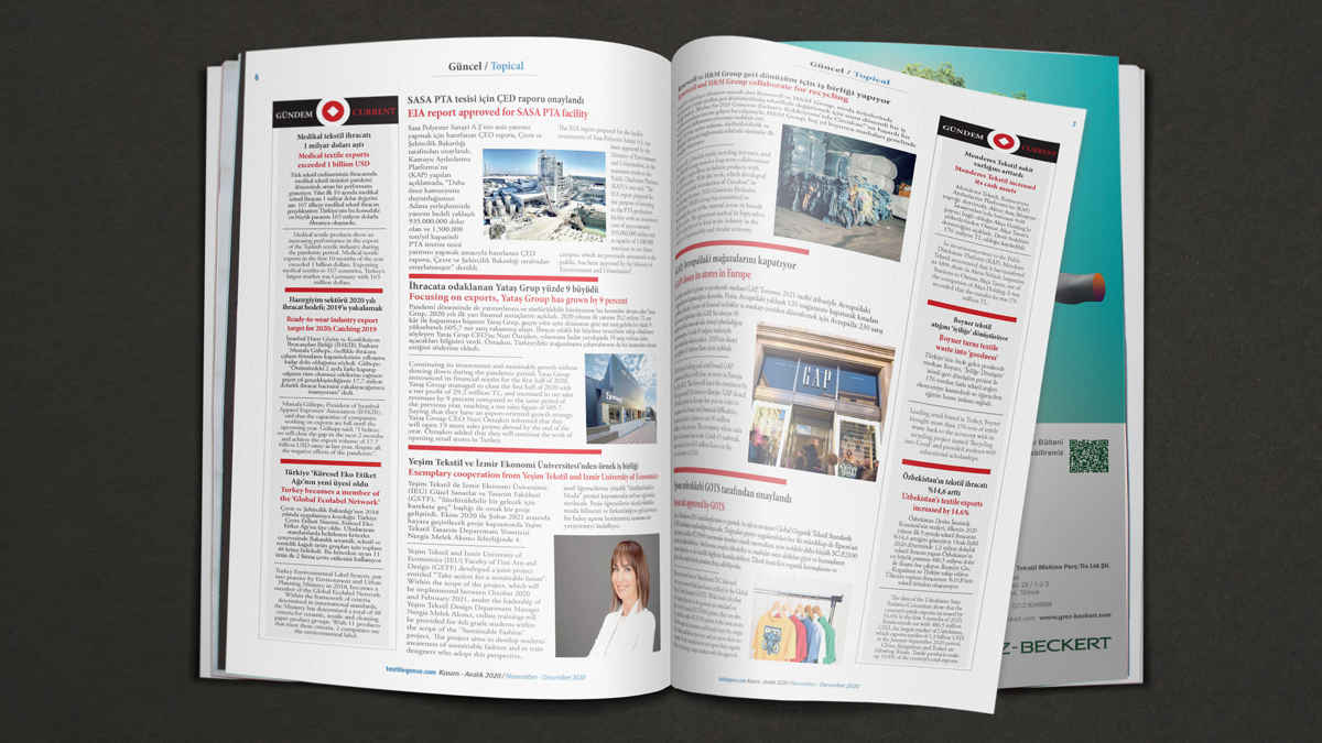 Textilegence Kasım - Aralık 2020 Sayısı yayınlandı