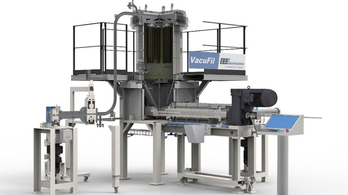 High quality recycled PET by VacuFil process